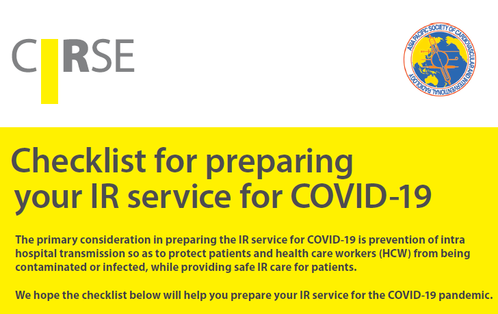 Checklist for preparing your IR service for COVID-19